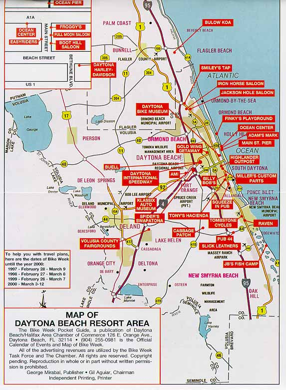 Daytona Bike Week Map